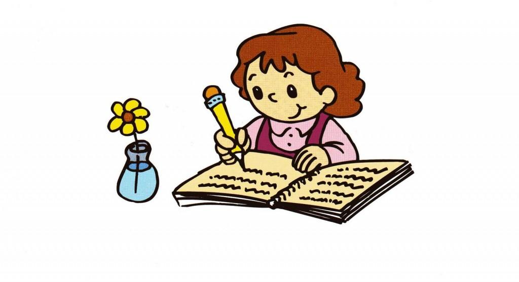 Dibujo niño escribiendo - Imagui